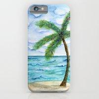 watercolor palm iPhone 6 Slim Case