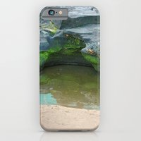 Moss on  rocks with puddle on the East Coast of Queensland, Australia iPhone 6 Slim Case