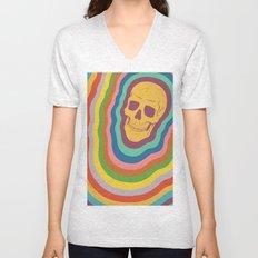 Trippy Rainbow Skull Unisex V-Neck