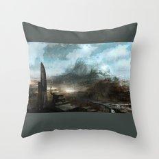 Daedalus Construction Yards Throw Pillow