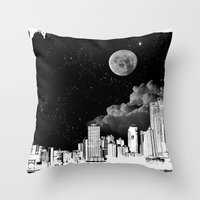 The city at night.. Throw Pillow