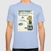 Better! Mens Fitted Tee Tri-Blue SMALL