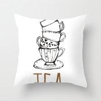 Just Tea Throw Pillow
