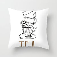 Just Tea Throw Pillow