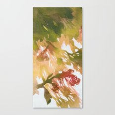 Morning Blossoms 2 - Olive Variation Canvas Print