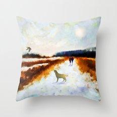 LANDSCAPE - Broadland walk Throw Pillow