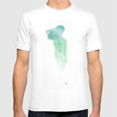 Ghost White Mens Fitted Tee SMALL
