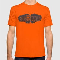 Seattle Seahawks Super Bowl World Champs Mens Fitted Tee Orange SMALL