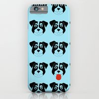 iPhone & iPod Case featuring Dogs Blue by Caz Haggar