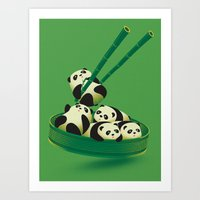 Panda Dumpling Art Print