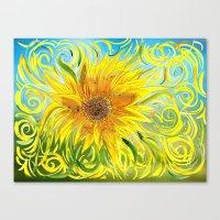 Sunflower Symphony Canvas Print