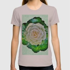 Beige Cabbage from the Garden Womens Fitted Tee Cinder SMALL