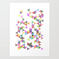 Technicolour Raindrops Art Print