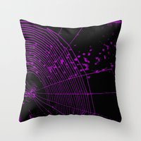 Emo spider Throw Pillow