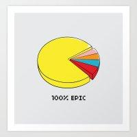 Epic Pie Chart Art Print