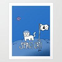Space Cat! Art Print