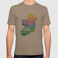 Typographic Ireland Mens Fitted Tee Tri-Coffee SMALL