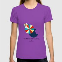Suumer's Gone Womens Fitted Tee Ultraviolet SMALL