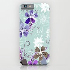 Summer blossom, blue and purple Slim Case iPhone 6s