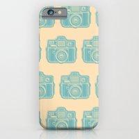 I Still Shoot Film Holga Logo - Reversed Turquoise/Tan iPhone 6 Slim Case