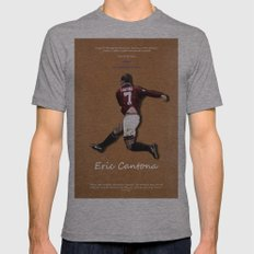 Eric Cantona 50 Mens Fitted Tee Athletic Grey SMALL