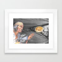 Always On The Trail Of The Best Latte When In A New Town Framed Art Print