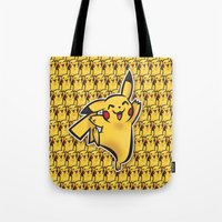 Pika chu Pocket Monsters Poke mon art Design Cute Pattern Tote Bag