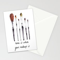 Home Is Where Your Makeup Is Stationery Cards