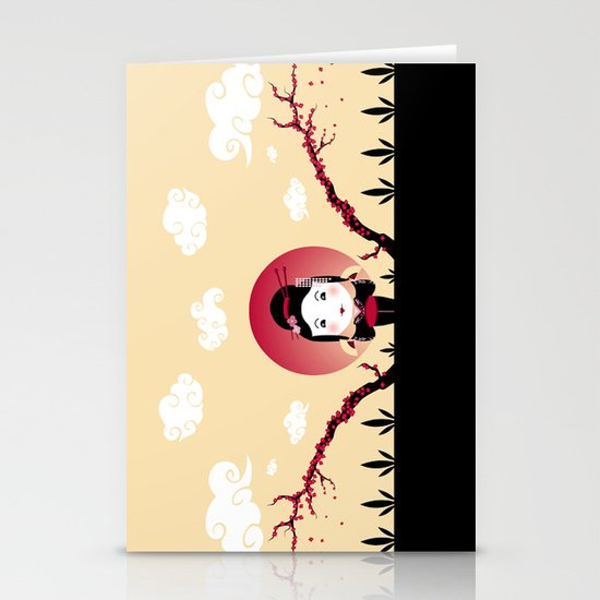 Geisha2 Stationery Card