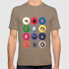Icon Set Minimalist Poster Mens Fitted Tee Tri-Coffee SMALL