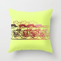 Motorcycle Rider Throw Pillow