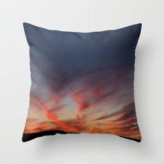 Bleeding sky Throw Pillow