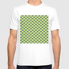 Aronde Pattern White SMALL Mens Fitted Tee
