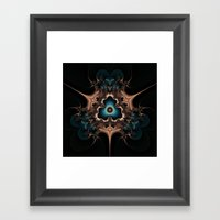 Layered Hearts And Thorn… Framed Art Print