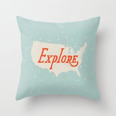 Explore Throw Pillow