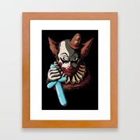 Clowns Are Evil Framed Art Print