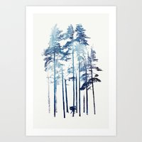 winter Art Prints featuring Winter Wolf by Robert Farkas