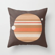 Space and Time (clock21) Throw Pillow
