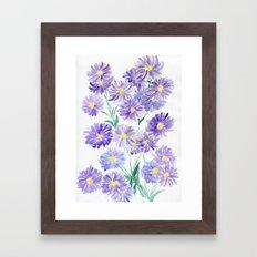 Summer Asters Framed Art Print