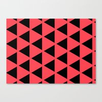 Sleyer Black On Pink Pat… Canvas Print