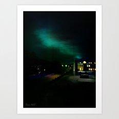 Northern Lights in Tromso Art Print