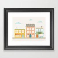 Corner Cafe Framed Art Print