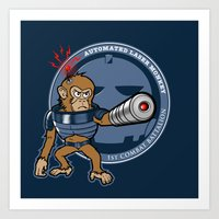 Automated Laser Monkey Art Print