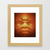 Olmeca II. (Gold) Framed Art Print