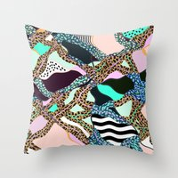 ELECTRIC VIBES Throw Pillow