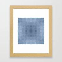 kanoko in monaco blue Framed Art Print
