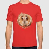 OWLIFY Mens Fitted Tee Red SMALL