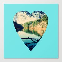 Lost Lake Love Canvas Print
