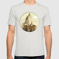 Venetian Arms Mens Fitted Tee Silver SMALL