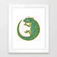 Quirky Chameleon Framed Art Print
